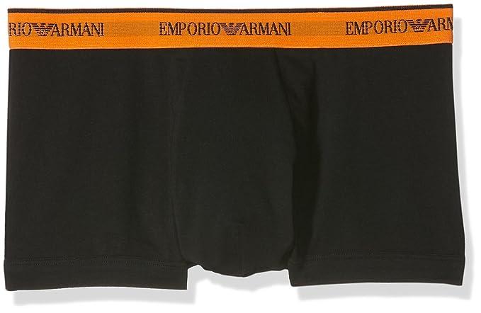 Emporio Armani 1112106A717-Calzoncillos para Hombre (paquete de 2) color Negro (NERO