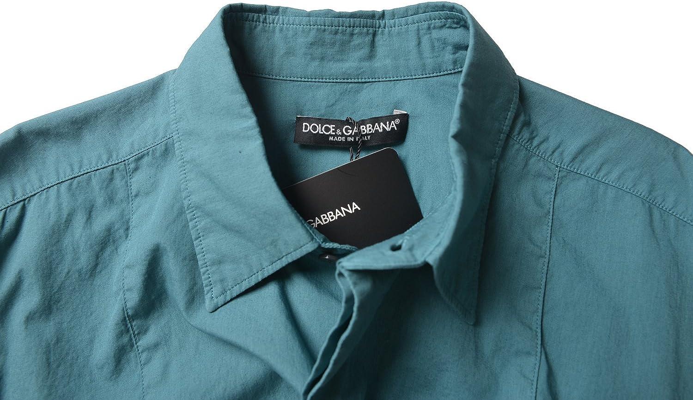 Dolce /& Gabbana Mens Green Long Sleeve Dress Shirt Size US 15.75 IT 40