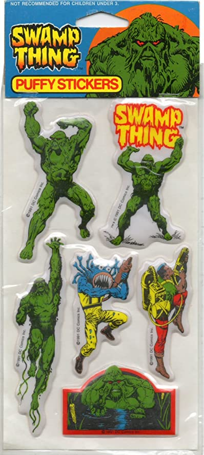 Vintage 1991 swamp thing puffy stickers set 1 by noteworthy