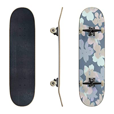 EFTOWEL Skateboards Vector Botanical Seamless Pattern Colorful Seamless Stock Classic Concave Skateboard Cool Stuff Teen Gifts Longboard Extreme Sports for Beginners and Professionals : Sports & Outdoors