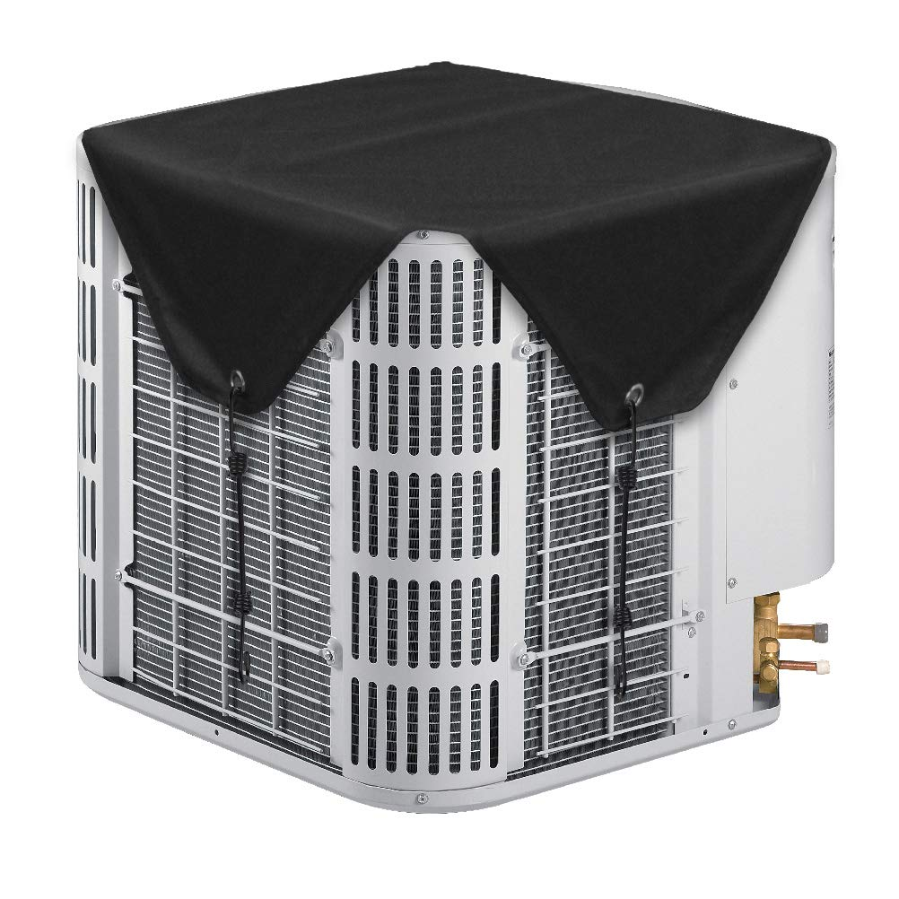 LBG Outdoor Winter AC Units Black Cover, Heavy Duty Top Air Conditioner Defender, Fits Standard American AC Condenser Unit (36''× 36'') Fits Standard American AC Condenser Unit (36' ' × 36' ' ) AC Parts Limited