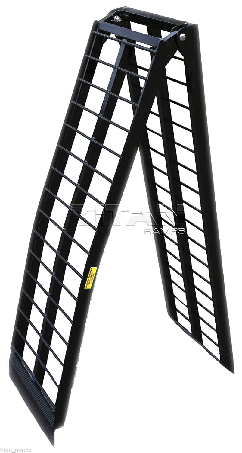 10 ft HD Wide Motorcycle Loading Ramp harley ramps cycle dirtbike truck (120 -M) Titan Ramps