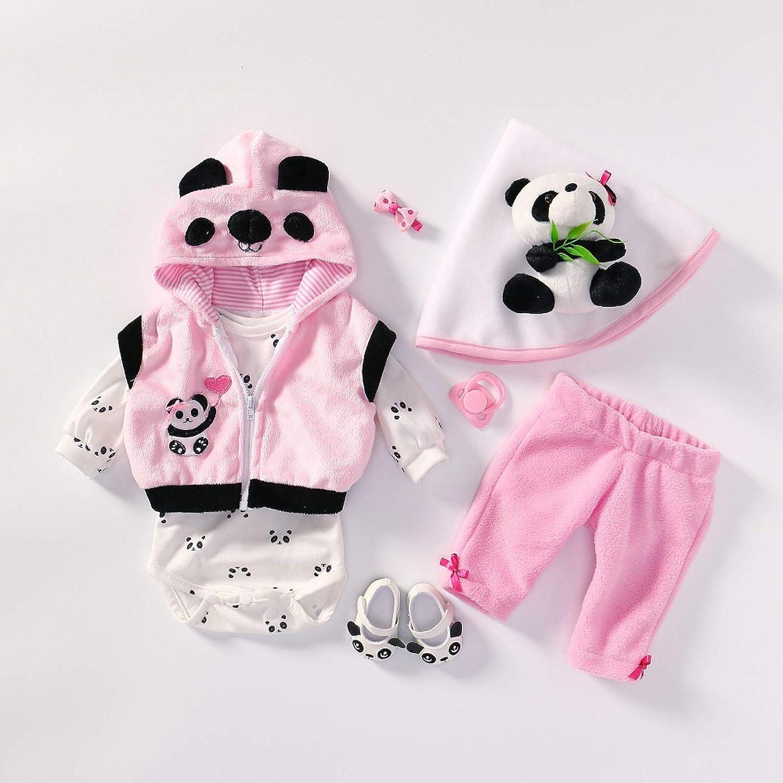 TERABITHIA 4 Estilos Diferentes Se Ajusta a 50-55 CM Muñecas recién Nacidas Vestido Reborn Baby Doll Toda la Ropa de algodón