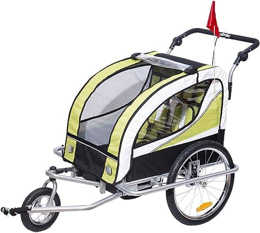 Homcom - Remolque para niños 2 en 1 para remolque de bicicleta ...