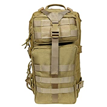 QJiang Táctico Militar Mochila Bolsa de Ejército Mochila de Asalto Impermeable Mochila Paquete para Aire Libre Deportes Viajes Senderismo Camping Trekking: ...