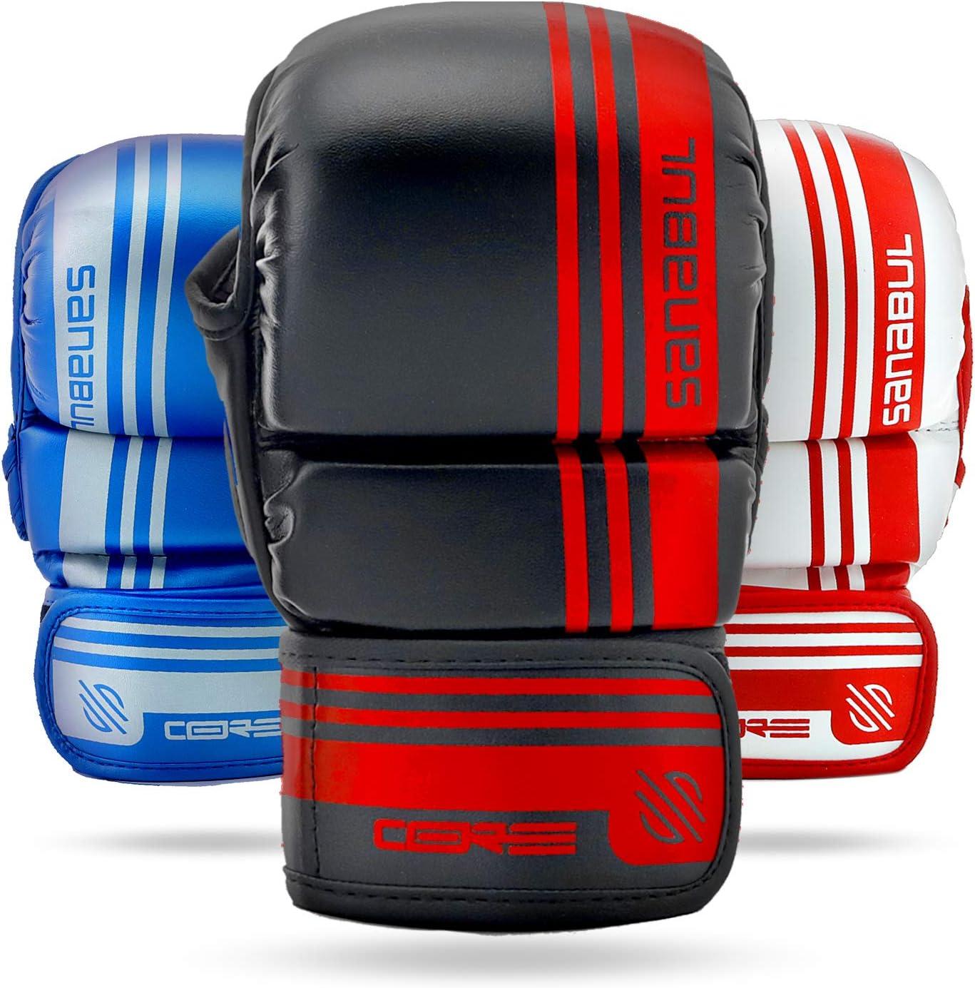 Farabi 7-oz MMA Gloves Hybrid Semi-Pro Open Hand Gloves Punching Training even Compition