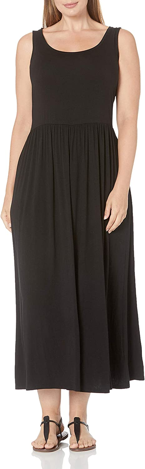 Amazon Essentials Women's Plus Size Tank Waisted Maxi Dress