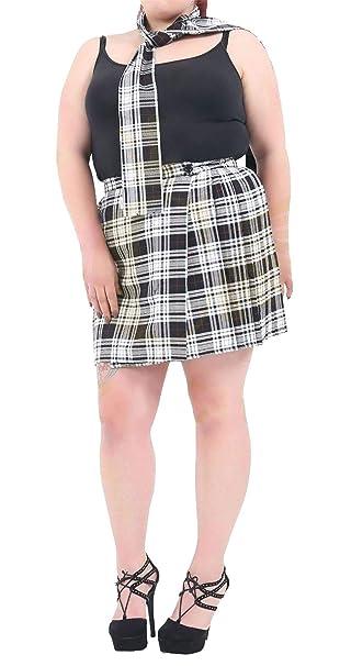 e9dd2d02b200b MA ONLINE Ladies Wrap Over Plus Size Tartan Skirt 18 Inches Womens Fancy  Dress Party Skirt