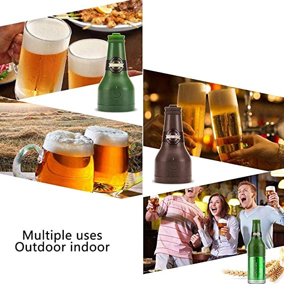Espumador De Cerveza Ultrasónico, Dispensador De Cerveza Portátil, Fiesta, Cocina, Bar, Vino, Herramientas, Regalos Creativos, Bubbler (2 * AA No Incluido) ...