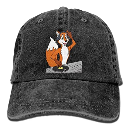 Yuerb Gorras béisbol DJ Fox Denim Hat Adjustable Womens Low Baseball Hat