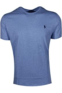 85d200d8b Polo Ralph Lauren Men's Pony Logo Crew Neck T-Shirt (Large, Cobalt Heather