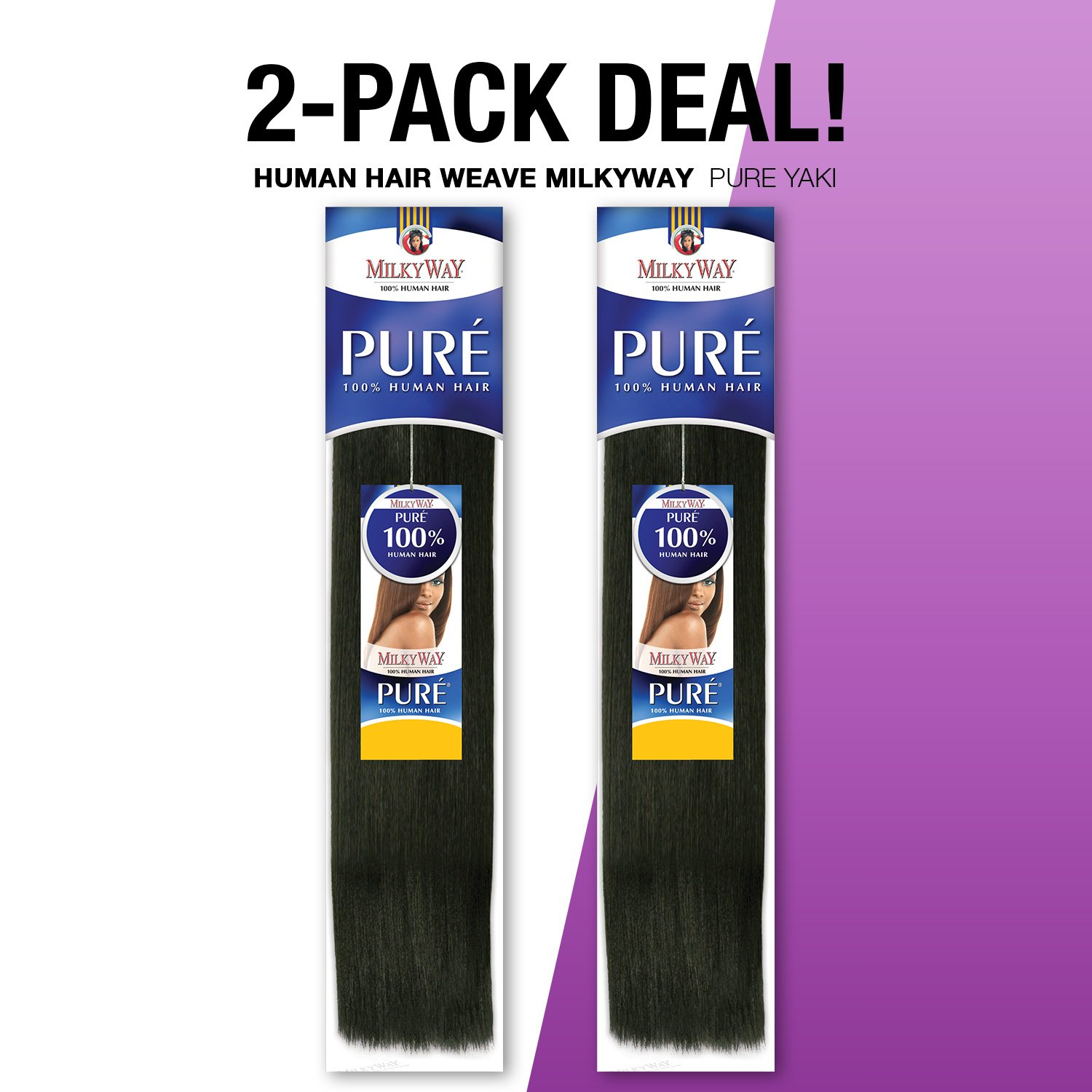 Amazon 2 Pack Deals Human Hair Weave Milkyway Pure Yaki 12
