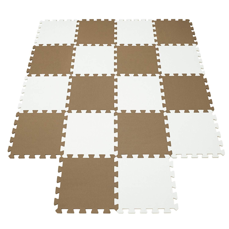 qqpp Tapis de Puzzles Id/éal pour l/Éveil de lenfant QQCDW101104G301018 18 Dalles Color/ées /à Imbriquer 30 x 30 cm Tapis de Sol Enfant et B/éb/é en Mousse