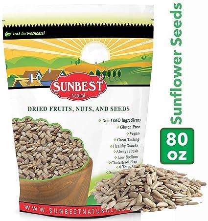 SUNBEST semillas de girasol crudas, sin sal, sin tostar en ...