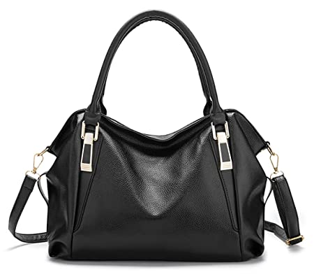 bee39dcc172b NUCLERL Women Handbag Female PU Leather Bags Handbags Ladies Shoulder Bag  Office Ladies Hobos Bag Cross Body Bag(Black)  Amazon.co.uk  Luggage