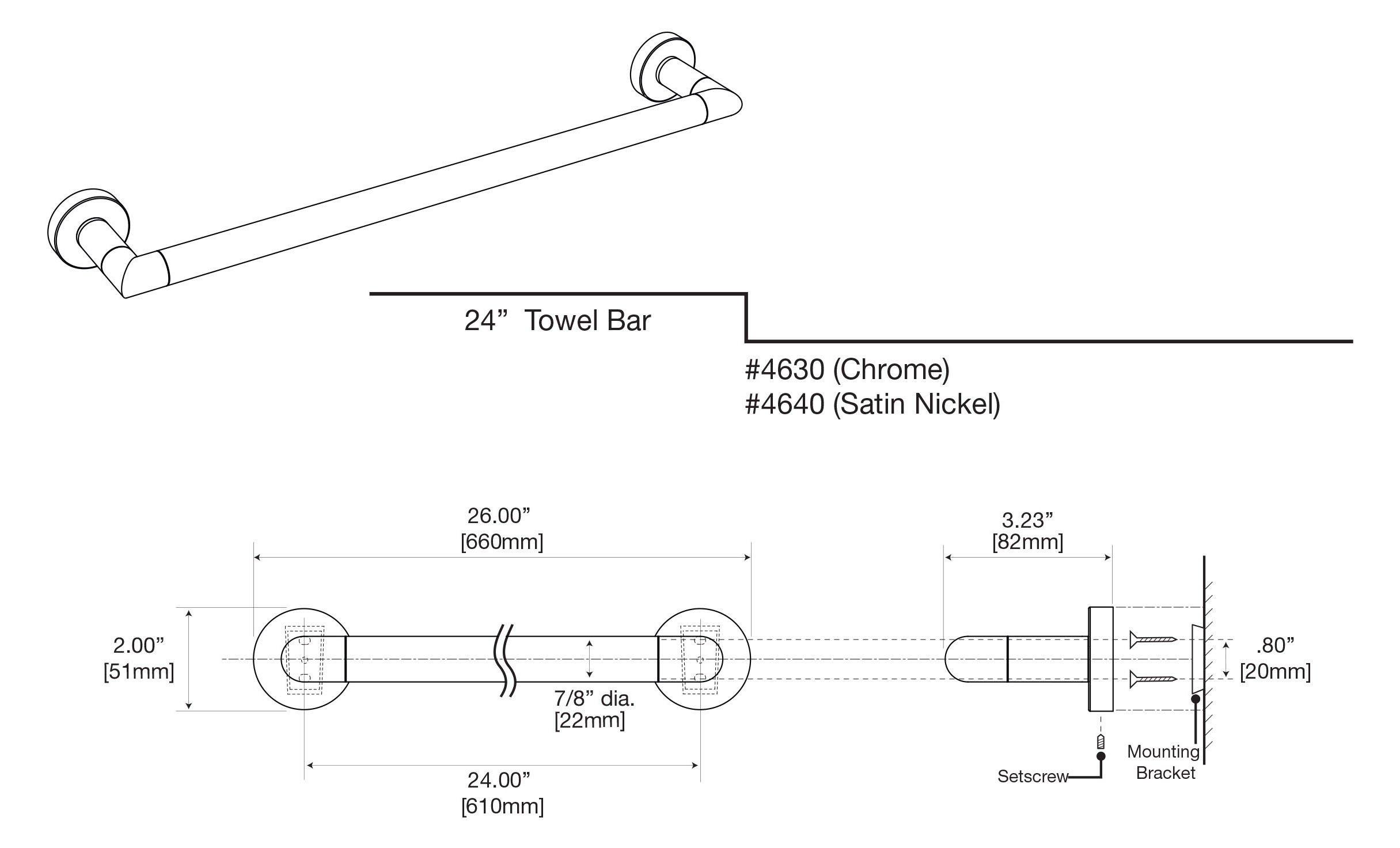 Gatco 4640 Glam 24'', Satin Nickel by Gatco (Image #4)
