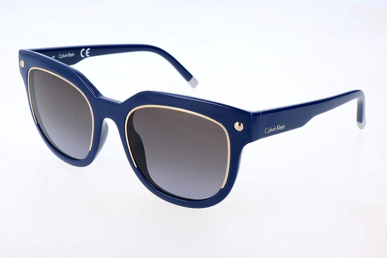Calvin Klein 205W39nyc Cat Eye Gafas de sol, Bluee, 52 para Mujer