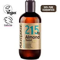 Naissance Sweet Almond Oil (no. 215) 250ml - Pure, Natural, Cruelty Free, Vegan, No GMO