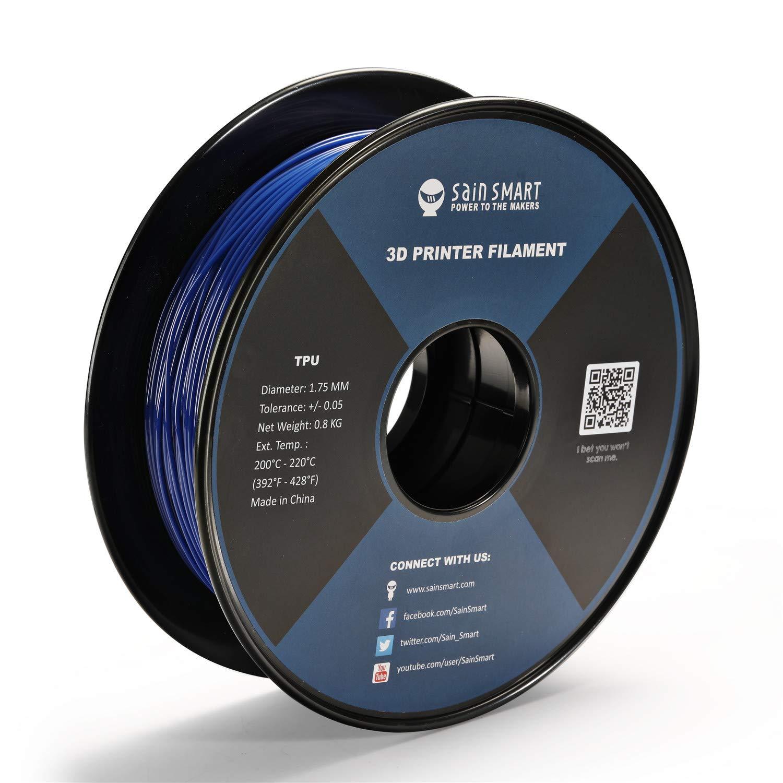 SainSmart White Flexible TPU 3D Printing Filament 1.75 mm Dimensional Accuracy +//- 0.05 mm 0.8 kg