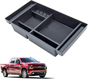 Vemote Center Console Organizer Tray for (2019-2021) Chevy Silverado 1500/ GMC Sierra 1500 and 2500/3500 HD (2020-2021) - Truck Accessories (Full Console w/Bucket Seats ONLY)