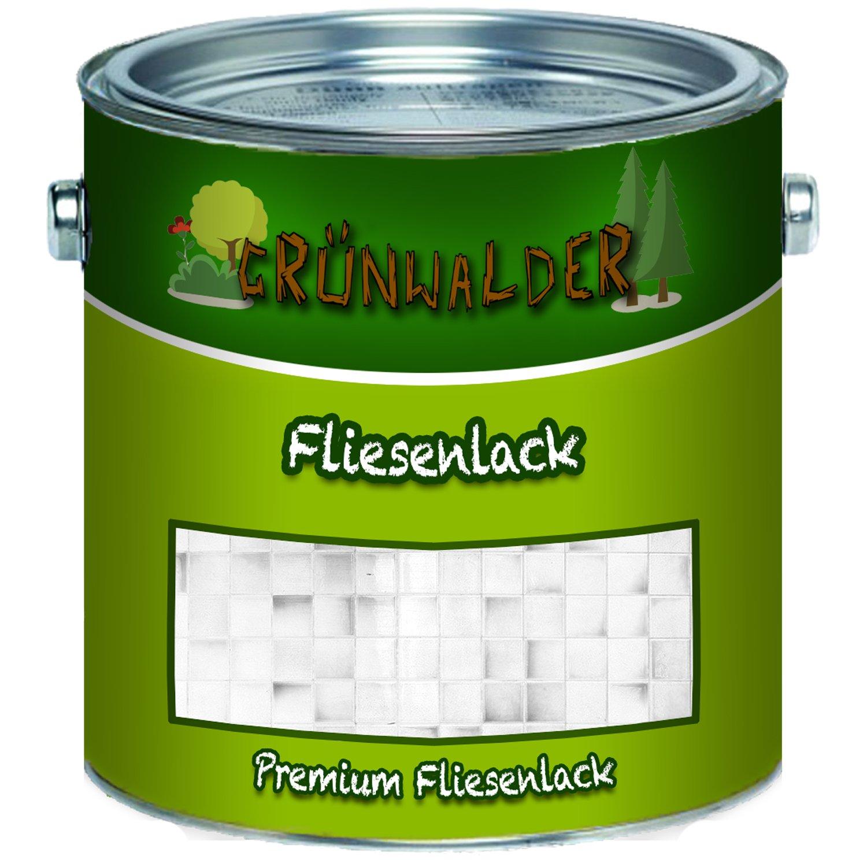 Grü nwalder premium 2K Fliesenlack (2,5 kg, Grau) Farben Löwe