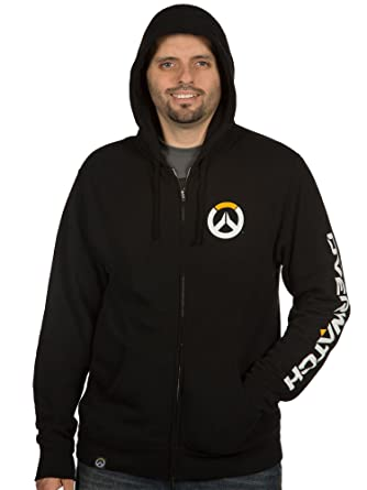 JINX Overwatch Men's Logo Zip-Up Hoodie (Black, Small). Sorry, this item is  ...