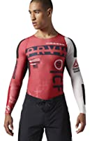 Reebok Men's Crossfit PWR5 Compression Top Tee Shirt Red AB4902, Large