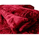 Webelkart Super Soft Microfibre Winter Heavy 2.50 KG Quilt (Razai)/ Mink Blanket with Free Carry Bag- Double Bed (Maroon)