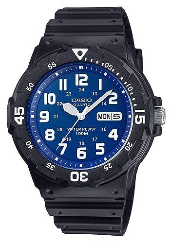 Casio Reloj Analogico para Hombre de Cuarzo con Correa en Resina MRW-200H-2B2VEF: Amazon.es: Relojes