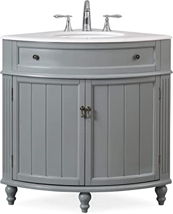 24 Thomasville Gray Modern Slim Corner Bathroom Sink Vanity Zk 47566ck Amazon Ca Tools Home Improvement