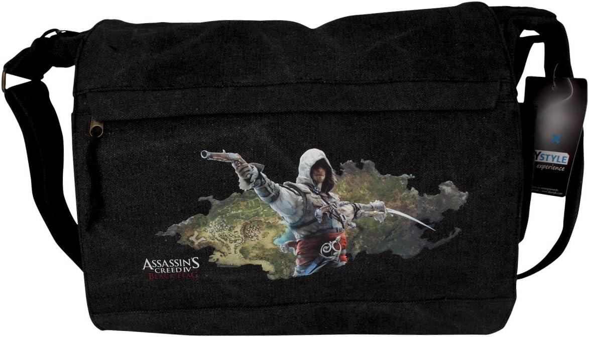 35x25x10 cm Assassins Creed IV Black Flag Borsa a TracollaEdward ABYstyle ABYBAG049