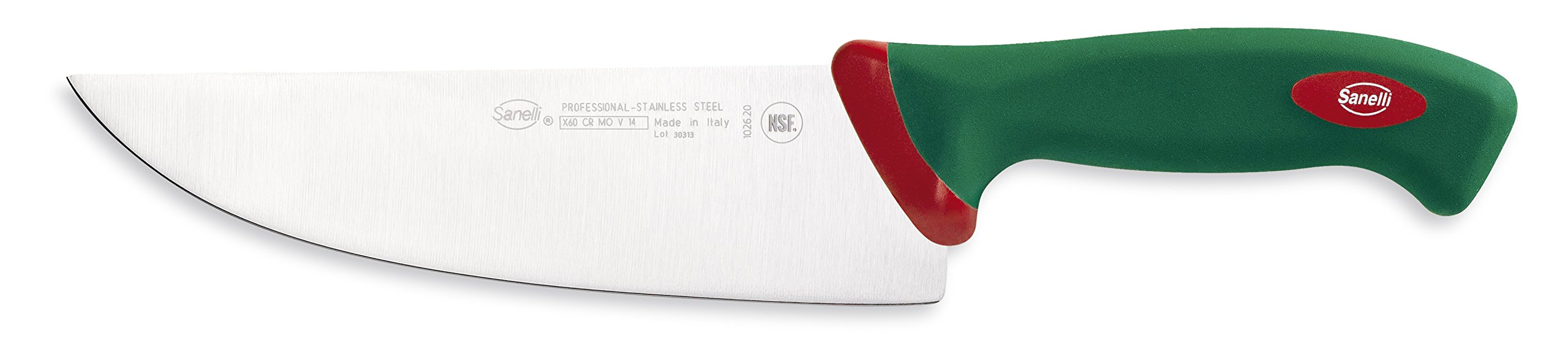 Sanelli Premana Professional Slicing Knife, 20cm/7.8'', Green by Sanelli
