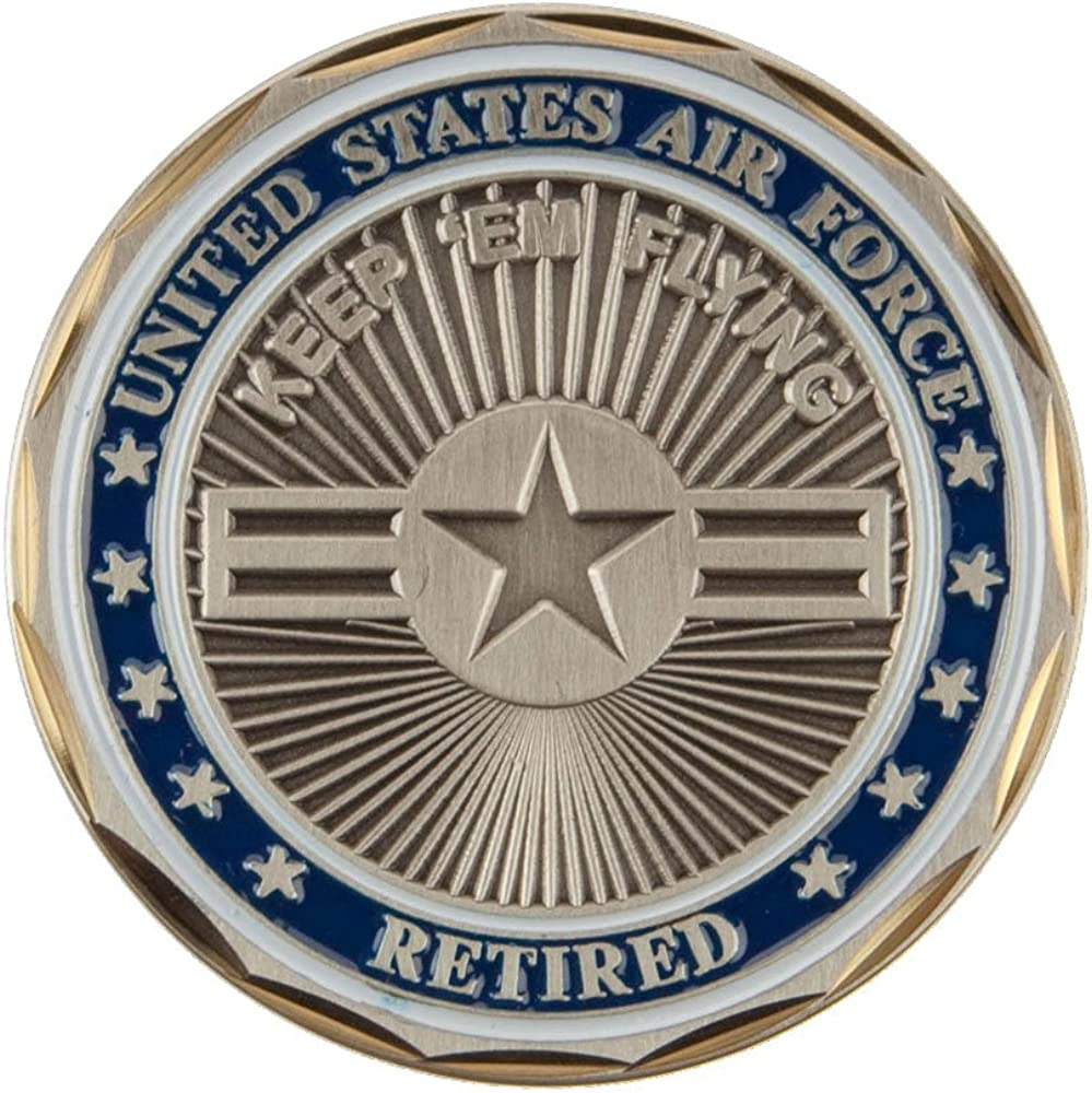Air Force Coin Proud U.S 2 - Retired W01S17E