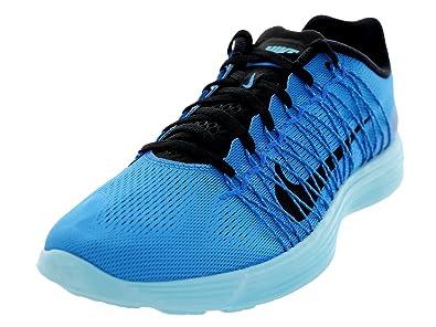 best sneakers 03256 efba6 Amazon.com | Nike Men's Lunaracer+ 3 Pht Blue/Blk/Plrzd Bl/Atmc Mng ...