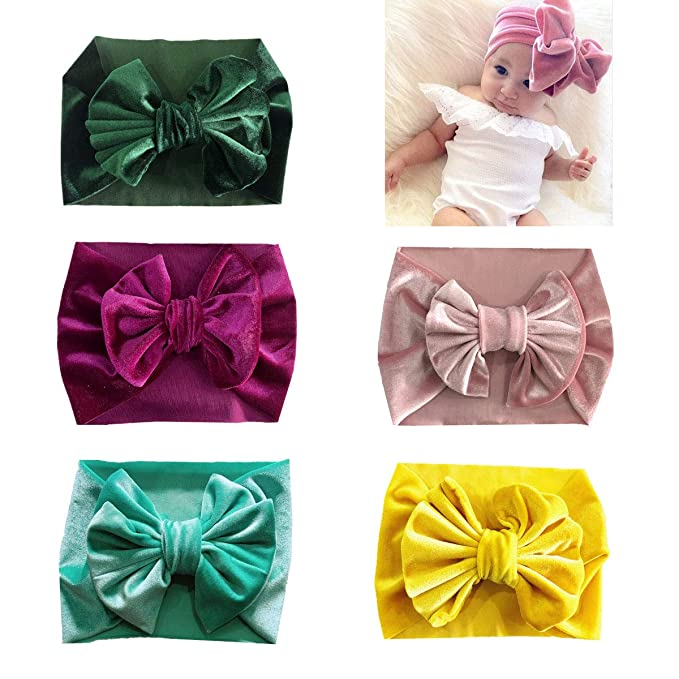 Amazon.com  SuperiMan Wide Band Velvet Headband for Baby 75d3949bd4c