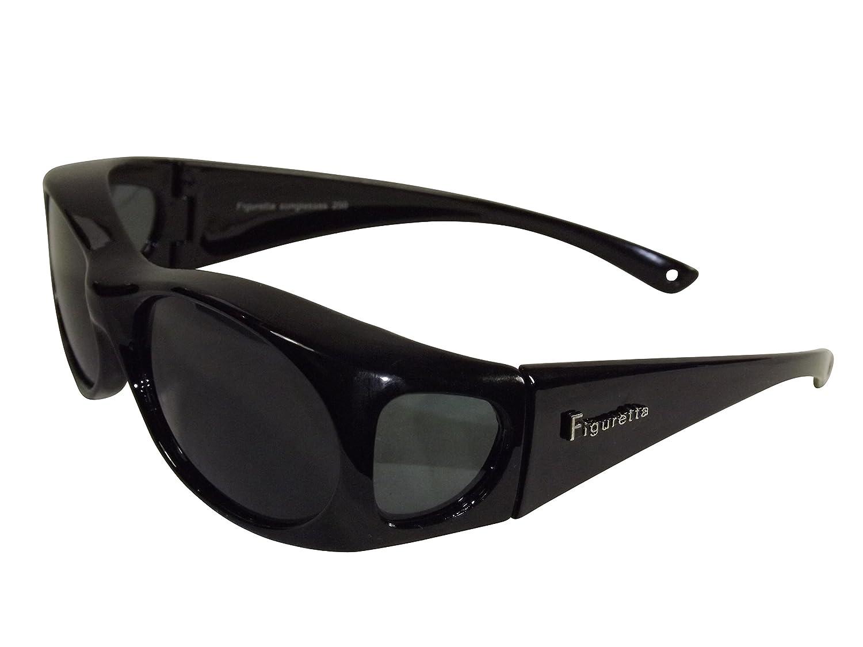 Figuretta Gafas de sol Gafas superpuestas en negro de la TV Publicidad