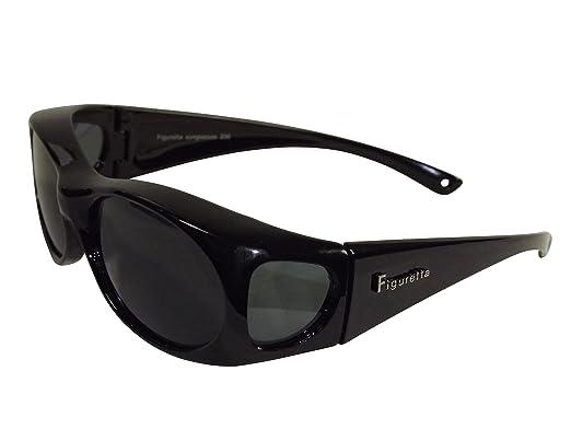 Figuretta Überbrille Polarisiert für Brillenträger Schwarz Matt 5GRaA4H6L