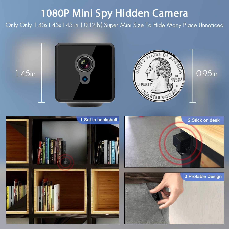 Amazon.com : Mini Spy Camera WiFi, Relohas 1080P Spy Hidden Camera Upgraded Night Vision Spy Cam, Portable Nanny Camera with Motion Detection for ...