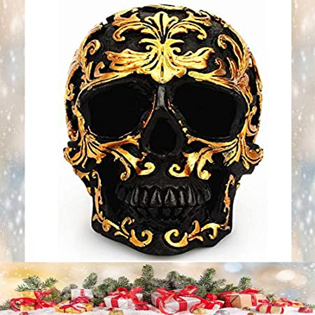 KOBWA Halloween Skull Halloween Decoration Mini Retro Skull Spoof Props Creative Simulation Skull Ornaments for Party Decorations Novelty Gifts Collectible
