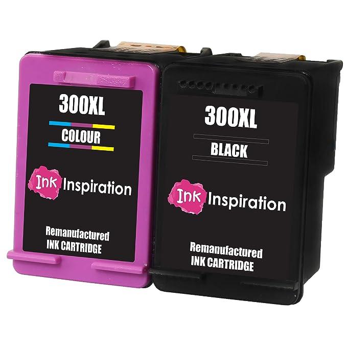 INK INSPIRATION® 2 Cartuchos de Tinta Remanufacturados para HP 300 ...