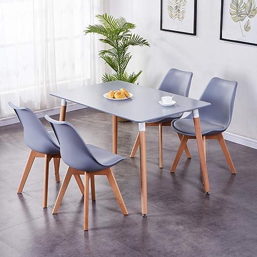 GOLDFAN - Juego de Mesa y sillas de Comedor, 4 sillas ...