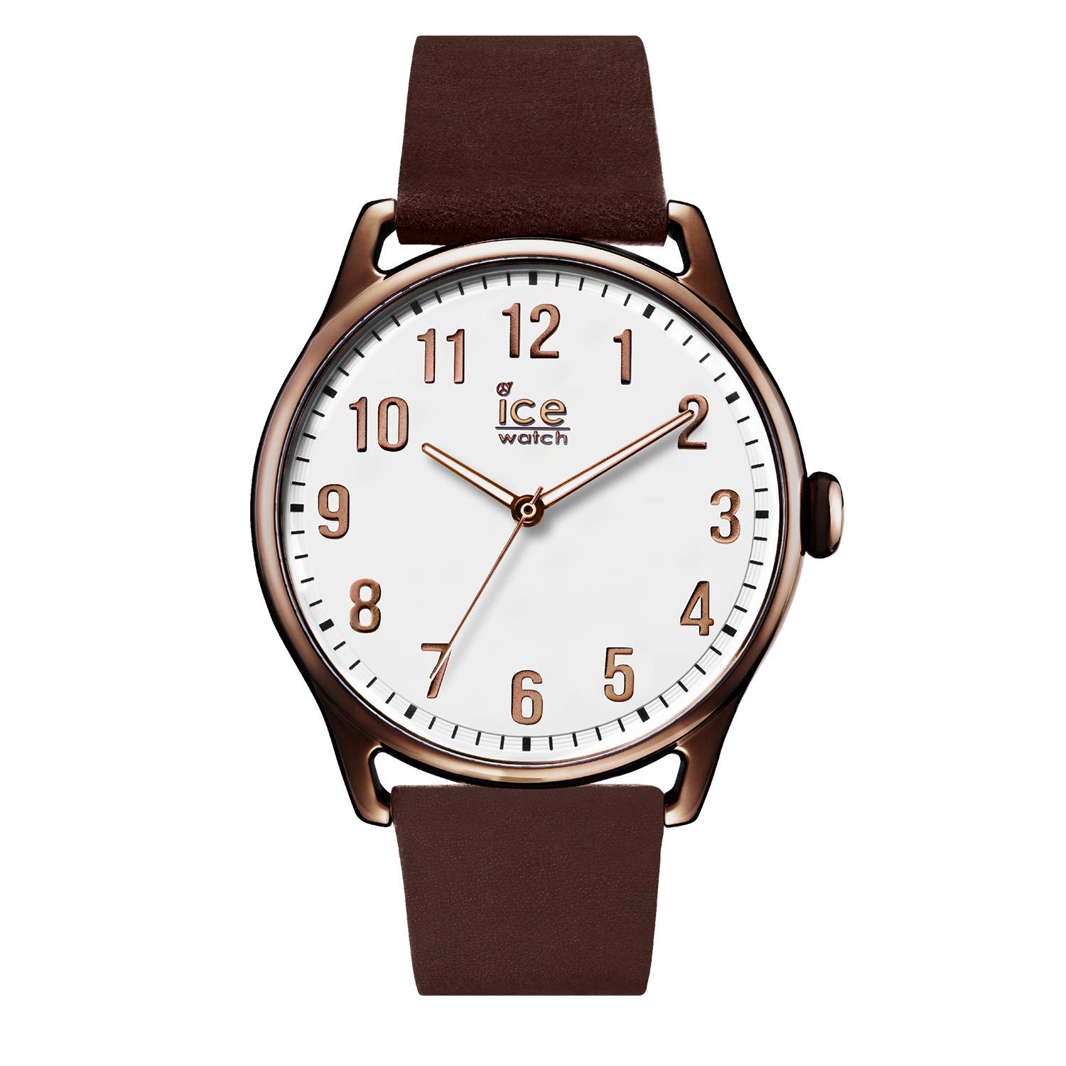 Ice-Watch - Ice Time Brown White - Reloj Marrón para Hombre con Correa de Cuero - 013047 (Large)
