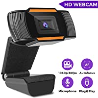 Deals on Coocamber HD 1080P Webcam with Microphone