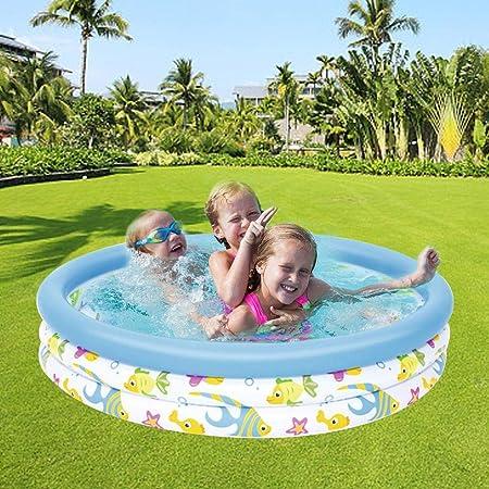 Destinely - Piscina Hinchable de 3 x 10 Pulgadas, Redonda, para Sala de Estar, Centro de baño, bañera Infantil Redonda de Goma Dura para Piscina de bebé: Amazon.es: Hogar