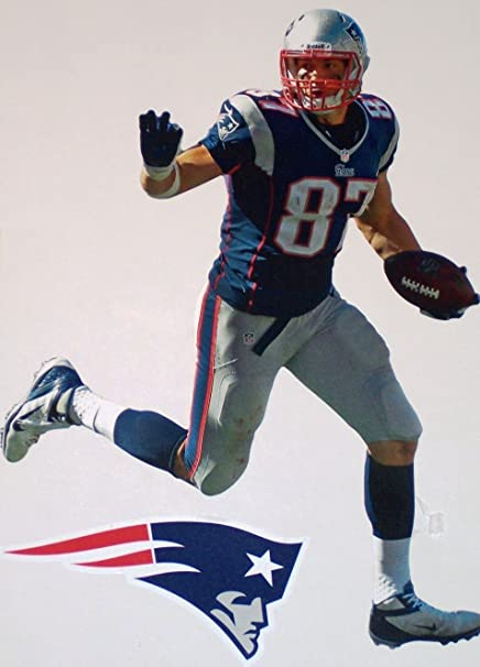 Image Unavailable. Image not available for. Color  Rob Gronkowski Mini  FATHEAD + New England Patriots Logo Official NFL ... 99cb50429