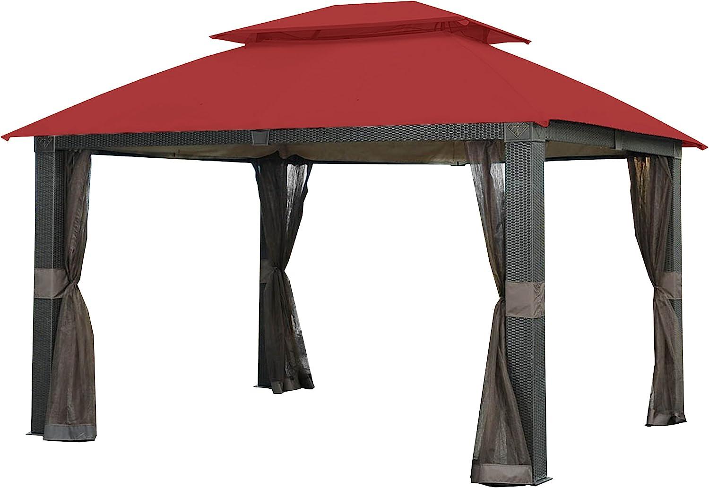 Garden Winds Replacement Canopy for The Revella Gazebo - Riplock 350 - Cinnabar