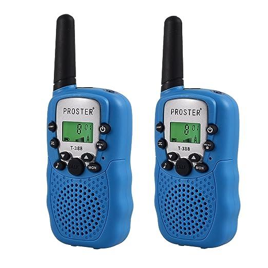 68 opinioni per Proster 2PZ Walkie Talkie Lunga Gamma Due-Via Radio Funzione VOX- UHF 462MHz 22