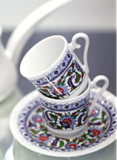OTTOMAN COPPER TRAY SILVER BLUE ENAMEL ENGRAVINGS,TURKISH COFFEE TEA SERVING