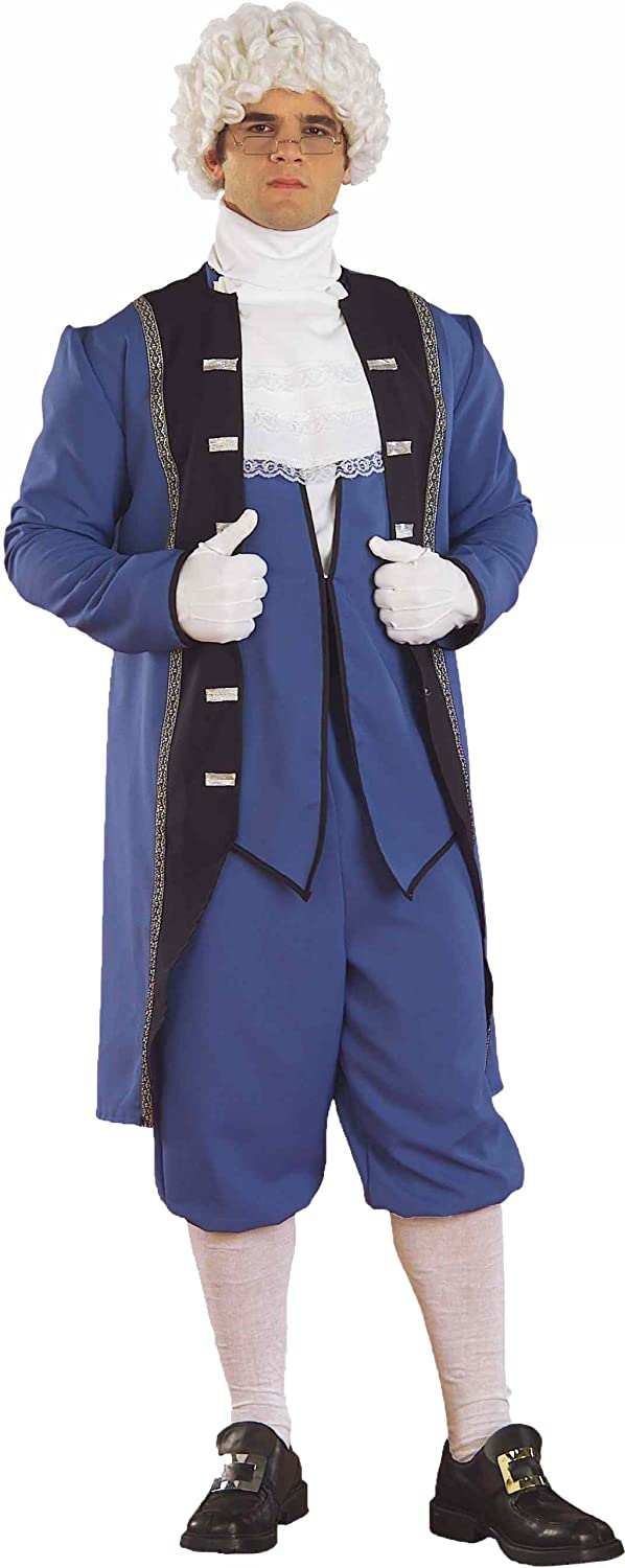 Amazon.com Forum Menu0027S Colonial American Complete Costume Blue Standard Clothing  sc 1 st  Amazon.com : jefferson davis costume  - Germanpascual.Com