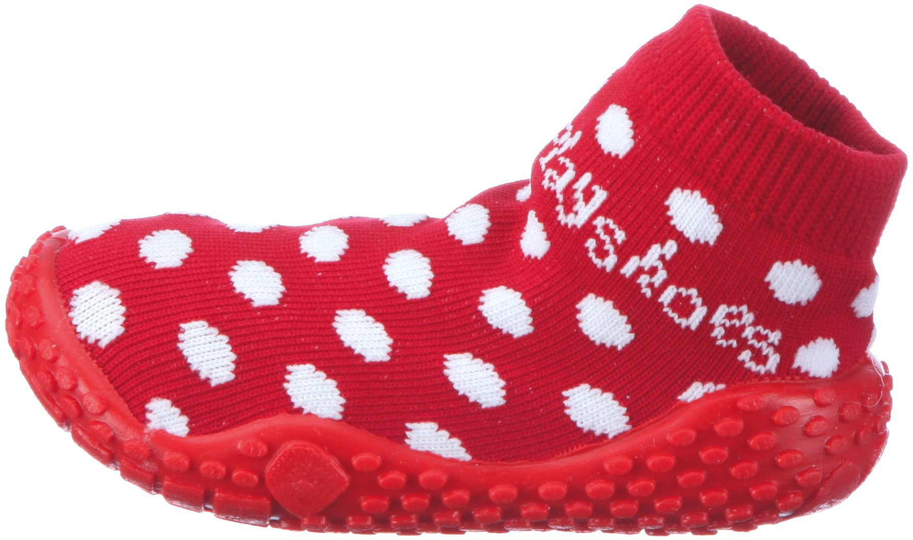 Playshoes Girls Dots Collection Rubber Aqua Swim/Beach Sock Shoes (7 M US Toddler) by Playshoes (Image #5)